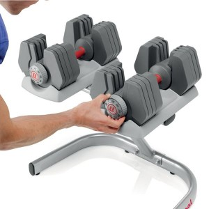 Universal Power-Pak 445 Adjustable Dumbbells with Stand